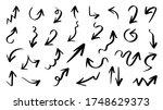 arrow vector doodle. hand drawn ...   Shutterstock .eps vector #1748629373