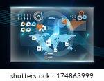 business interface against... | Shutterstock . vector #174863999
