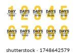 number days left countdown... | Shutterstock .eps vector #1748642579