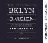 next generation brooklyn... | Shutterstock .eps vector #1748659583