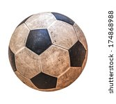 Old Leather Soccer Ball...