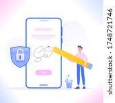 digital signature or e... | Shutterstock .eps vector #1748721746