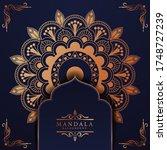luxury mandala background with...   Shutterstock .eps vector #1748727239