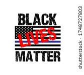 black lives matter calligraphic ...   Shutterstock .eps vector #1748727803
