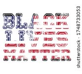 black lives matter calligraphic ...   Shutterstock .eps vector #1748733053