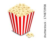 box with popcorn. raster... | Shutterstock . vector #174873908