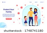 happy attractive young family... | Shutterstock .eps vector #1748741180