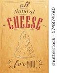 poster lettering all natural... | Shutterstock .eps vector #174874760