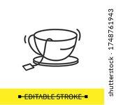 teacup on saucer plate icon.tea ...