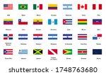 america flags pack  american... | Shutterstock .eps vector #1748763680