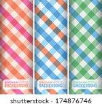 Multicoloured Gingham Background