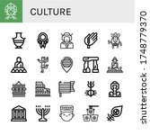 Set Of Culture Icons. Such As...