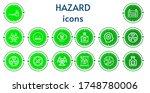 editable 14 hazard icons for...   Shutterstock .eps vector #1748780006