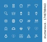 editable 25 marriage icons for... | Shutterstock .eps vector #1748788463