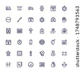 editable 36 time icons for web... | Shutterstock .eps vector #1748793563