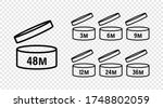 pao signs. pao icons. cosmetic... | Shutterstock .eps vector #1748802059
