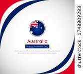 abstract australia country flag ... | Shutterstock .eps vector #1748809283