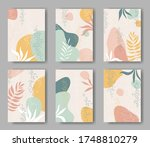 set of vector cards with... | Shutterstock .eps vector #1748810279
