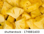pineapple slices | Shutterstock . vector #174881603
