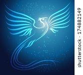 shining abstract phoenix bird... | Shutterstock .eps vector #174882149