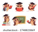 owl teacher. cartoon bird...   Shutterstock . vector #1748823869