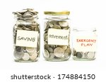 Isolated Coins In Jar With...
