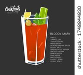 Bloody Mary Cocktail On Black....