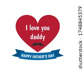 happy father s day label. i... | Shutterstock .eps vector #1748845379