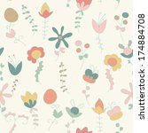 background of flowers and... | Shutterstock .eps vector #174884708