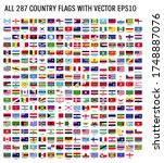 world flag collection with... | Shutterstock .eps vector #1748887076