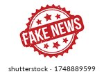 fake news rubber stamp. red... | Shutterstock .eps vector #1748889599