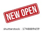 new open rubber stamp. red new... | Shutterstock .eps vector #1748889659