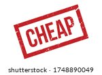 cheap rubber stamp. red cheap... | Shutterstock .eps vector #1748890049