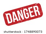 danger rubber stamp. red danger ... | Shutterstock .eps vector #1748890073