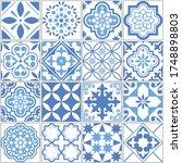 portuguese azulejo tile...   Shutterstock .eps vector #1748898803