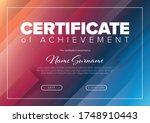 fresh modern certificate... | Shutterstock .eps vector #1748910443