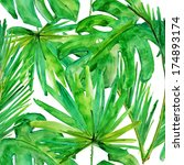 Tropical Leaves. Seamless...
