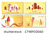 set of web pages with various... | Shutterstock .eps vector #1748933060