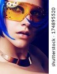 portrait of beautiful girl with ... | Shutterstock . vector #174895520