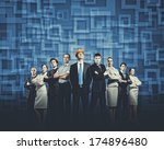 image of business people group... | Shutterstock . vector #174896480
