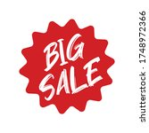 big sale red label. sticker for ... | Shutterstock .eps vector #1748972366