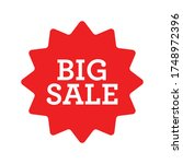 big sale red label. sticker for ... | Shutterstock .eps vector #1748972396
