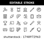 a simple set of school items.... | Shutterstock .eps vector #1748972963