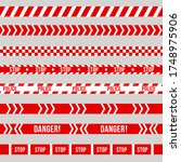 police warning tape  caution.... | Shutterstock .eps vector #1748975906