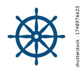 nautical helm. ship and boat...   Shutterstock .eps vector #1748976623