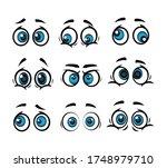 set cartoon eye in vector high... | Shutterstock .eps vector #1748979710