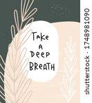 take a deep breath wellness and ... | Shutterstock .eps vector #1748981090