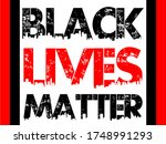 black lives matter text vector...   Shutterstock .eps vector #1748991293