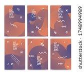 layout of a4 format modern... | Shutterstock .eps vector #1748994989