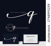 simple elegant initial... | Shutterstock .eps vector #1748995259